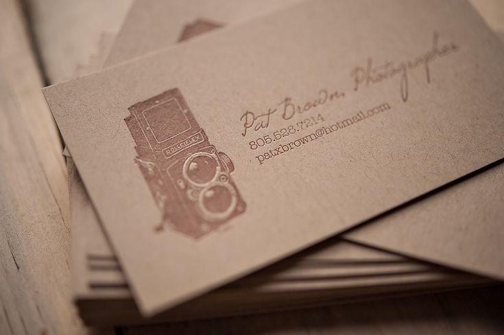 rustic business card, kraft business card, letterpress business card, photographer business card