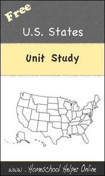 Free U.S. States Unit Study - Homeschool Helper Online