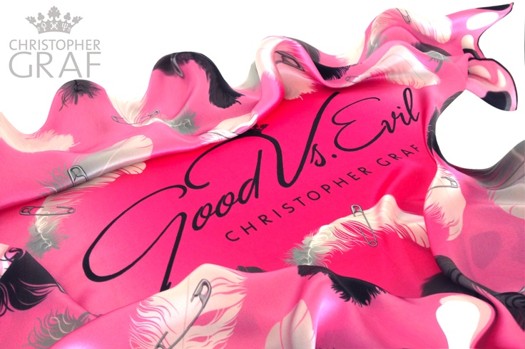 'TICKLED PINK'  Limited edition silk scarf.  Designed by Christopher Graf  www.christophergraf.com.au
