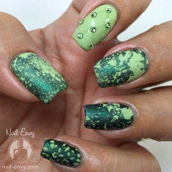 Green Water Spotted Nails - Nail Envy