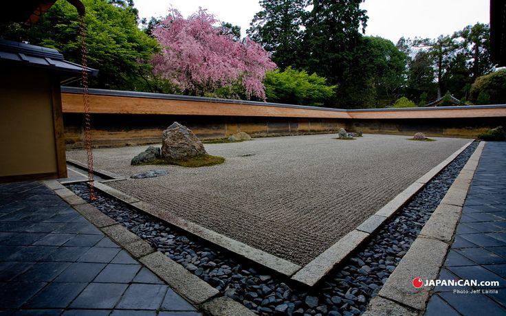 Ryōan-ji Temple Garden, Kyoto, Japan