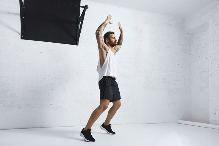 The 15 Best Body-Weight Exercises  | Great list, unfortunately on irritating site... | No. 11. Jumping jacks Everyone knows this simple exercise, which requires jumping from closed legs to open and back while simultaneously fanning arms above the head and back down to the sides. If you want to pair cardio with weight training, this is one of the easiest options.