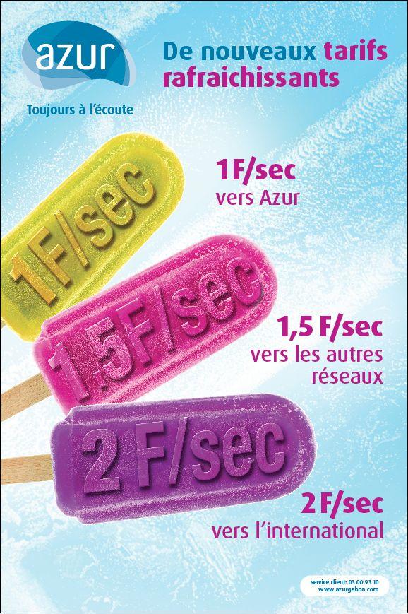 De nouveaux tarifs rafraîchissants - Azur Gabon (telecom)