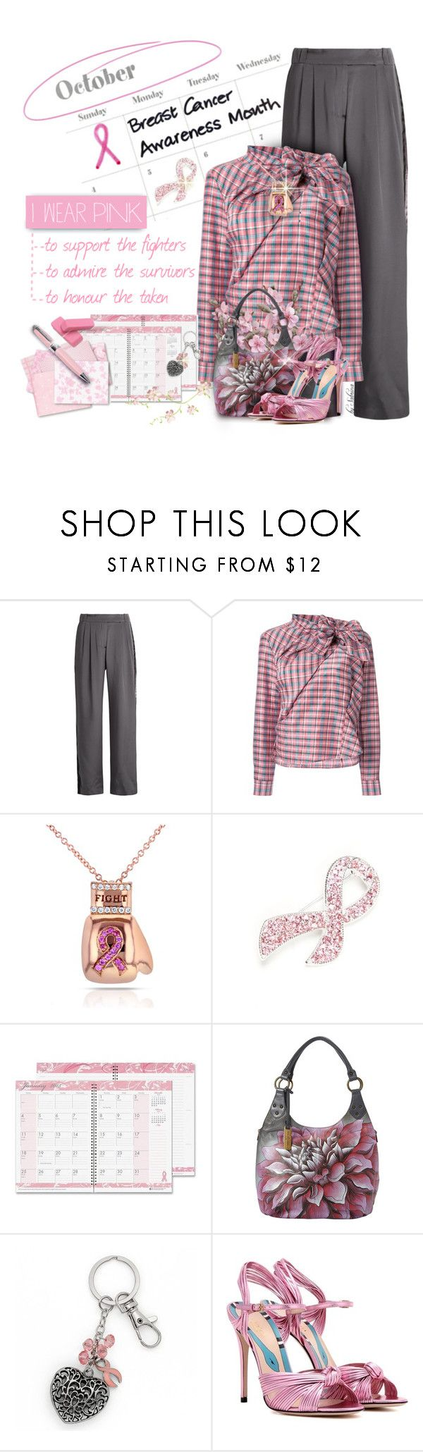 """""""231. Breast Cancer Awareness"""" by xiandrina ❤ liked on Polyvore featuring Serena Bute, Isabel Marant, Kobelli, Napier, House of Doolittle, Anuschka, Gucci, ICE London, Lumière and IWearPinkFor"""