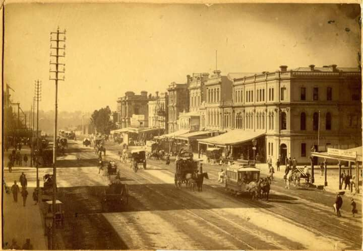 King William St,Adelaide in 1869.