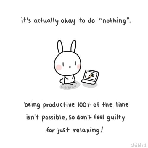 its actually okay to do nothing