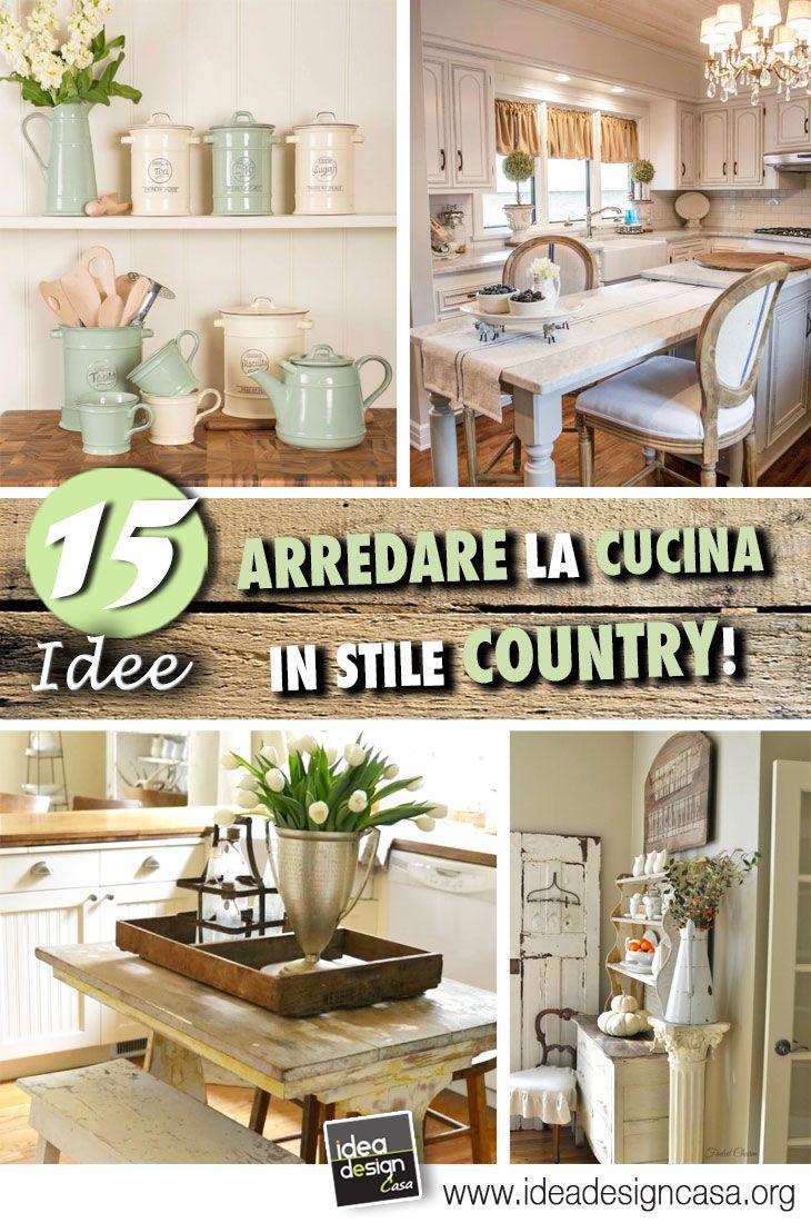 Idee Arredo Cucina Country.Le Cucine Country 20 Idee Per Un Arredamento Perfetto