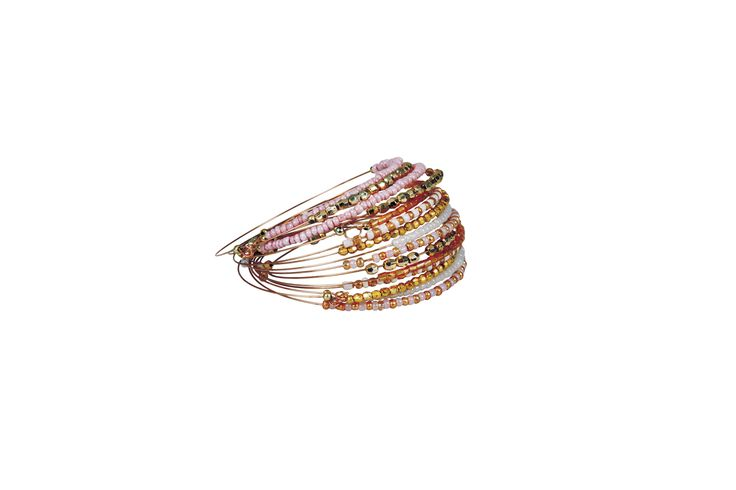 Edgars Pink and Gold Bangles