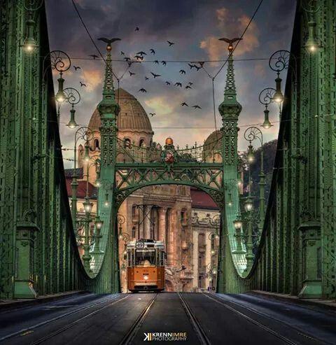 Szabadsag-hid/Liberty Bridge, Budapest