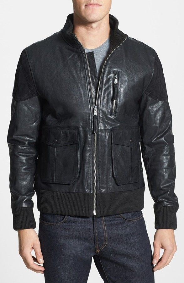 Black Leather Bomber Jacket by PRPS. Buy for $775 from Nordstrom