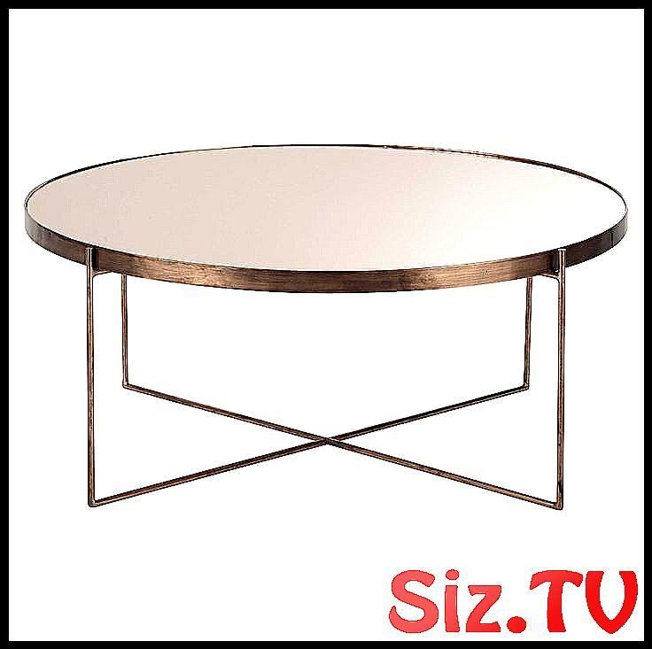 Table Basse Ronde Avec Miroir En M Tal Cuivr T Avec Basse Comete Cuivre Metal Miroir Ronde Round Coffee Table Interior Decoration Accessories Table
