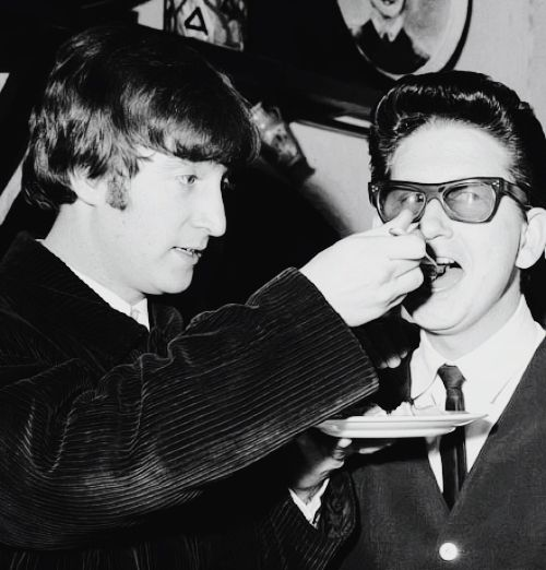John Lennon and Roy Orbison