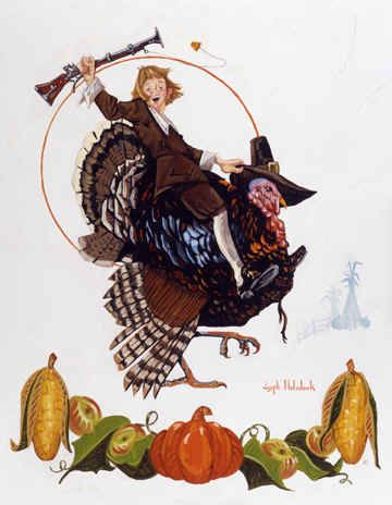 Tom Turkey Time by Joseph Holodook ~ Thanksgiving