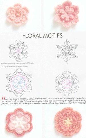 FLORES A CROCHET CON ESQUEMAS FÁCILES DE HACER PATRONES GRATIS | Patrones Crochet, Manualidades y Reciclado