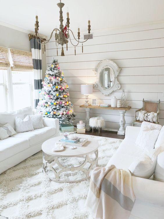 Bright White Christmas Home Decoration – Holiday Event #home #christmas #christmasdecor #christmashome #decoration #decor #holiday | Home Decor