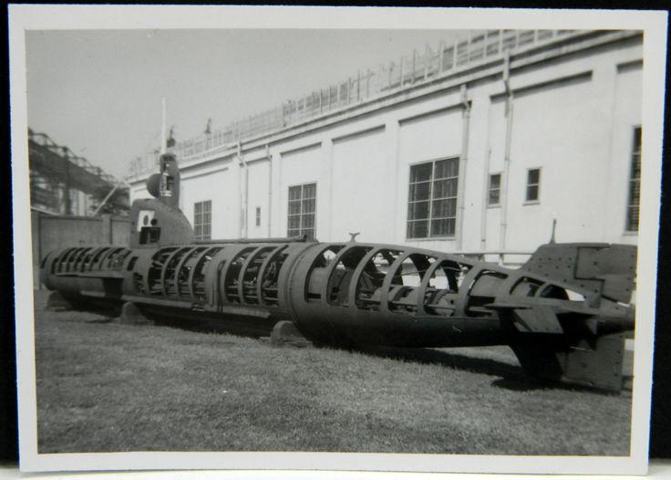 Japanese Sea Dragon Midget Submarine US Naval Base Yokosuka Japan 1950s Photo #2…