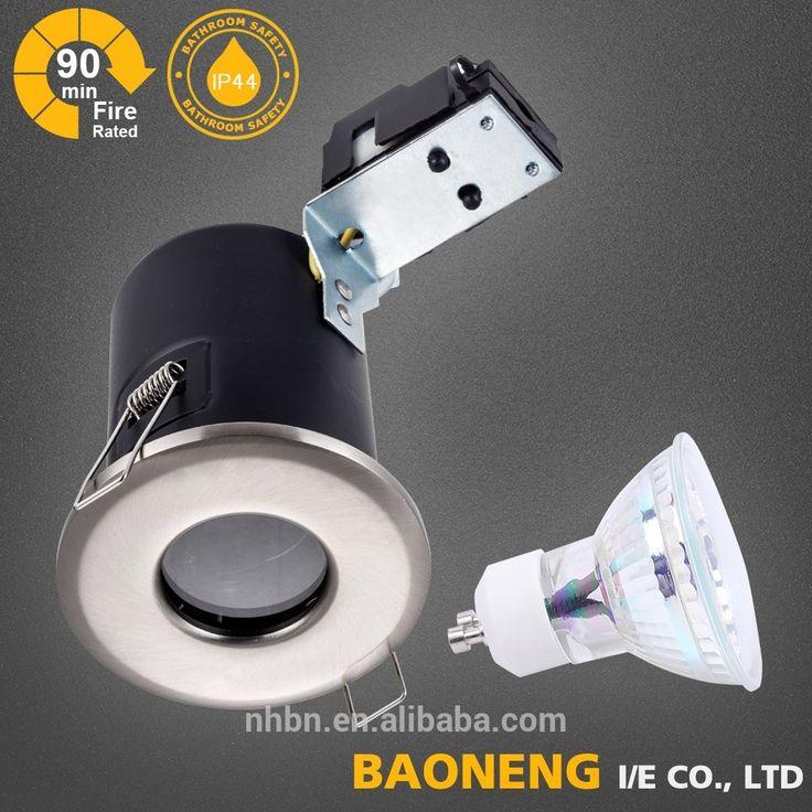 IP44 Brush chrome led down light housing with mr16 Gu10 lamp bulb British Standard recessed using