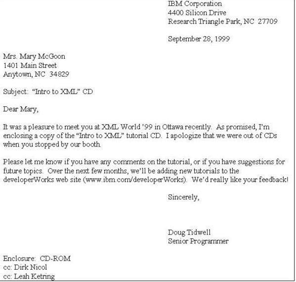 5 Standard Business Letter Formats Business Letter Format