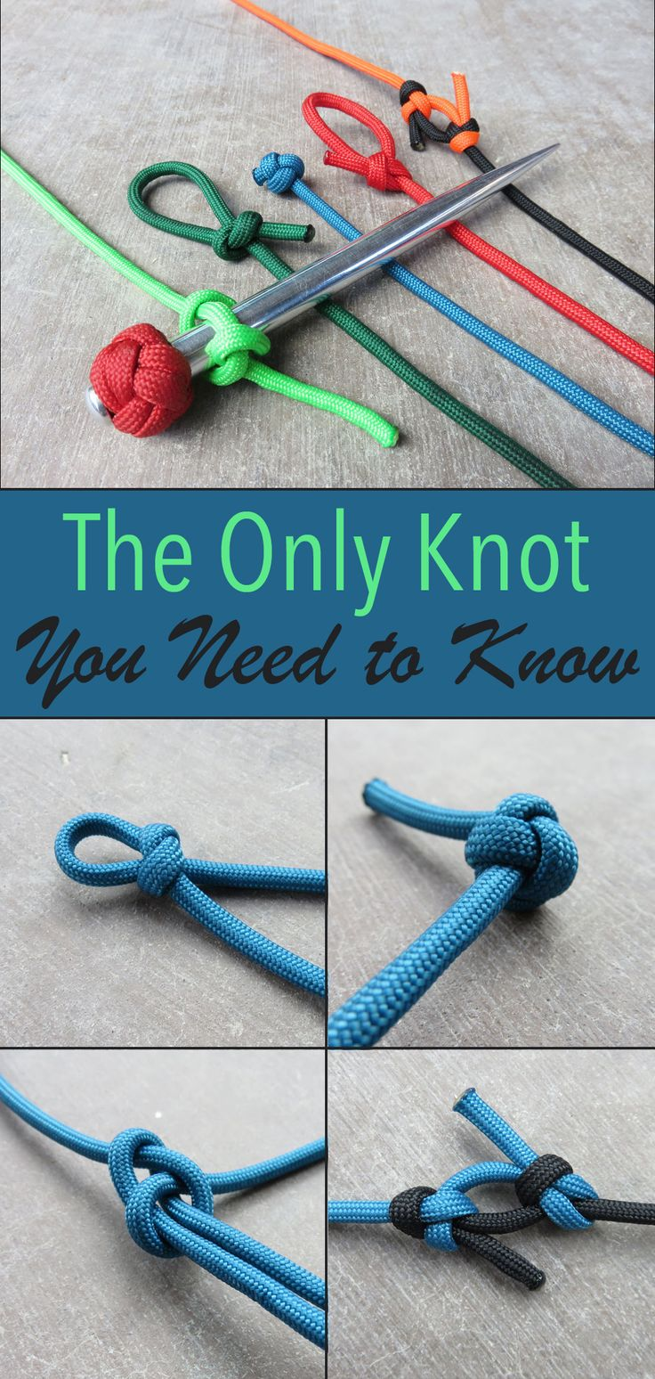 If you only learn one knot make it the marlin spike hitch. It's simple to tie and leads you right into 4 other great knots.