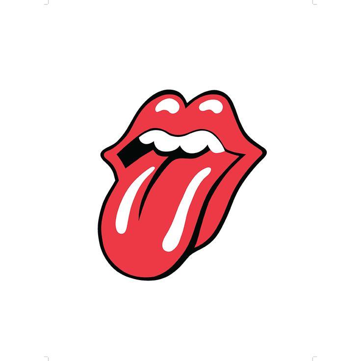Tongue Logo 1971 Lithograph Tumblr Stickers Diy
