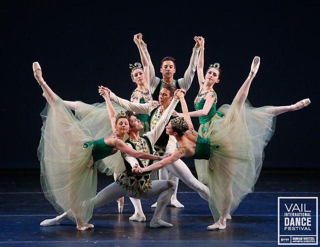 Dancers of Pennsylvania Ballet perform part of George Balanchine's at the 2014 Vail International Dance Festival. Photo © Erin Baiano