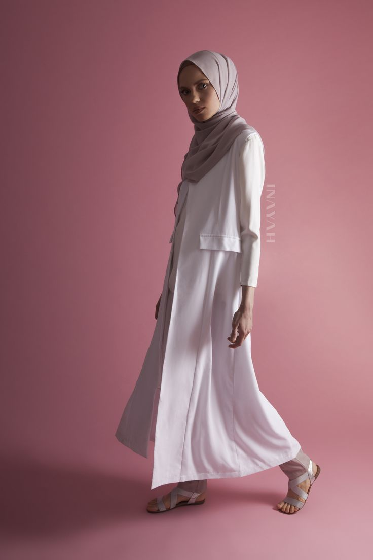 INAYAH | Casual closet must-haves this SS16! White Sleeveless #Coat + White…