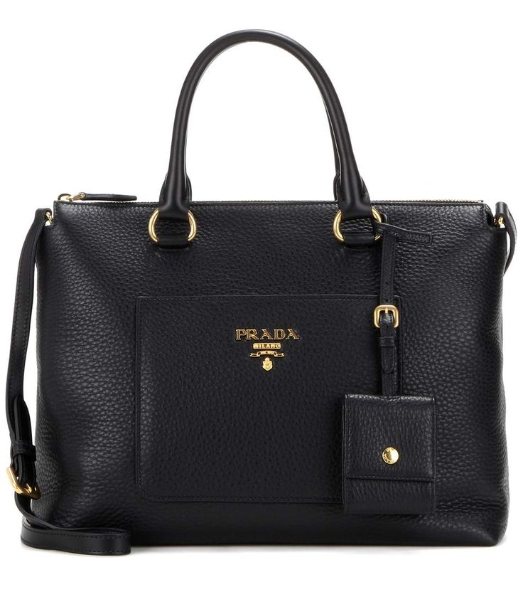 PRADA Leather Tote. #prada #bags #shoulder bags #hand bags #leather #tote #lining #