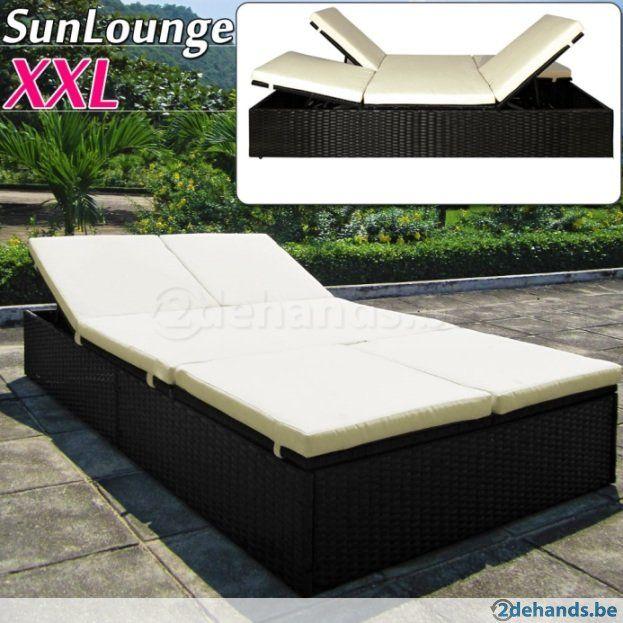 Luxe lounge 2personen ligbed ligzetel design te koop for Ligzetel tuin