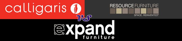 Table price comparisons from Calligaris, Resource Furniture, Expand Furniture