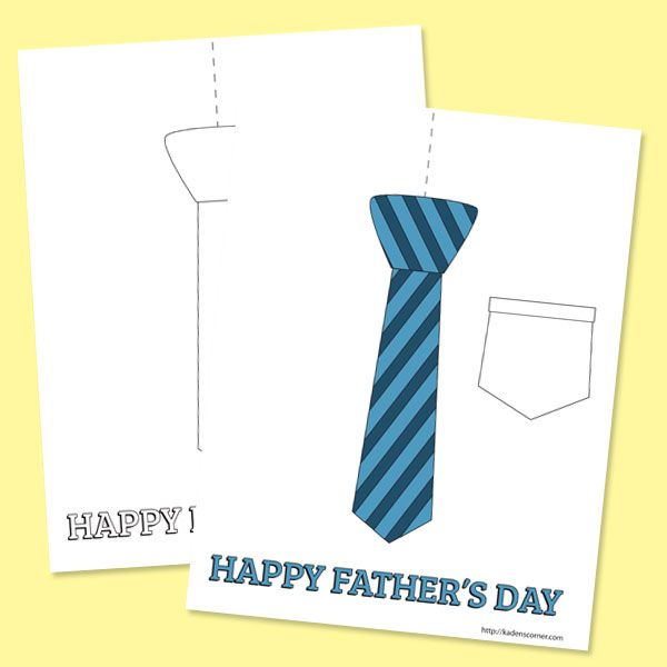 fathers day tie coloring pages - photo#21