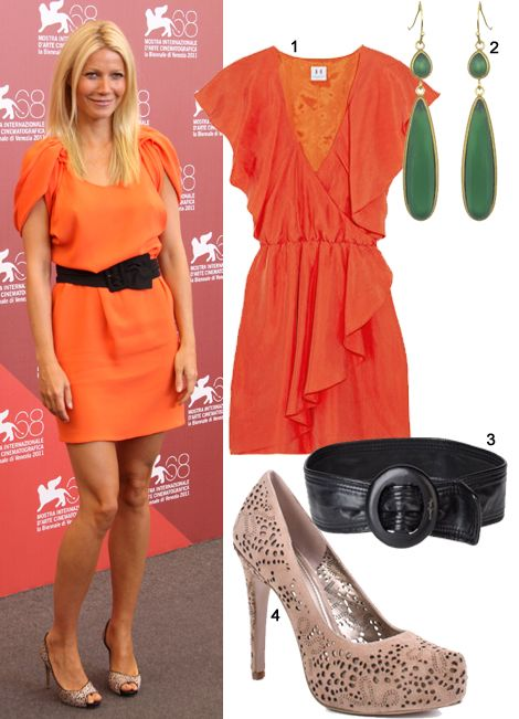 Get Gwyneth Paltrow's Prada Look For Less 1. The Outnet, Halston Heritage  Silk-