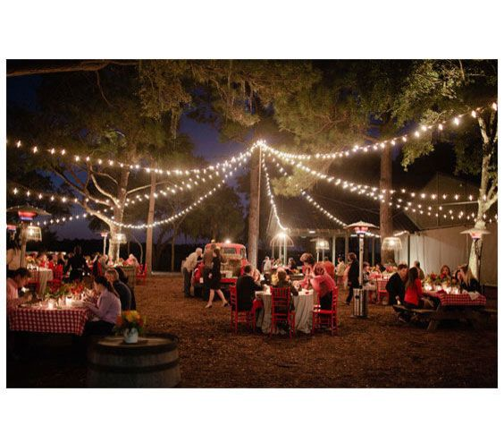 Twinkle, Twinkle The best part of an outdoor celebration can often be after the sun sets. Soft sparkling lights make the perfect backdrop for a big day of festivities.  via @lisa Choe Simple