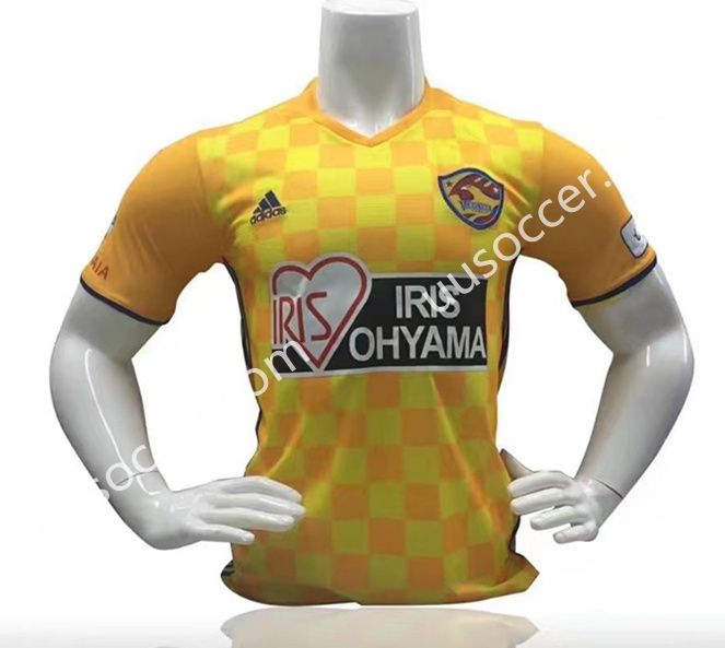 2017-18 Vegalta Sendai Home Yellow Thailand Soccer Jersey AAA