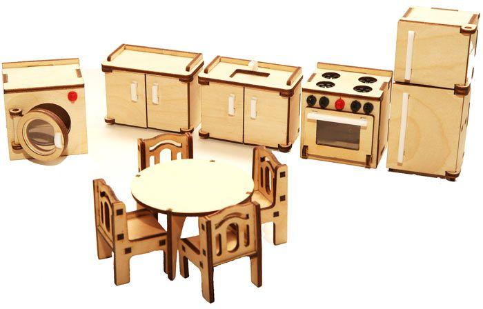 Мебель сборная кукольная Кухня 10 предметов, дверцы открываются Надежный выбор (Йошкар-Ола)