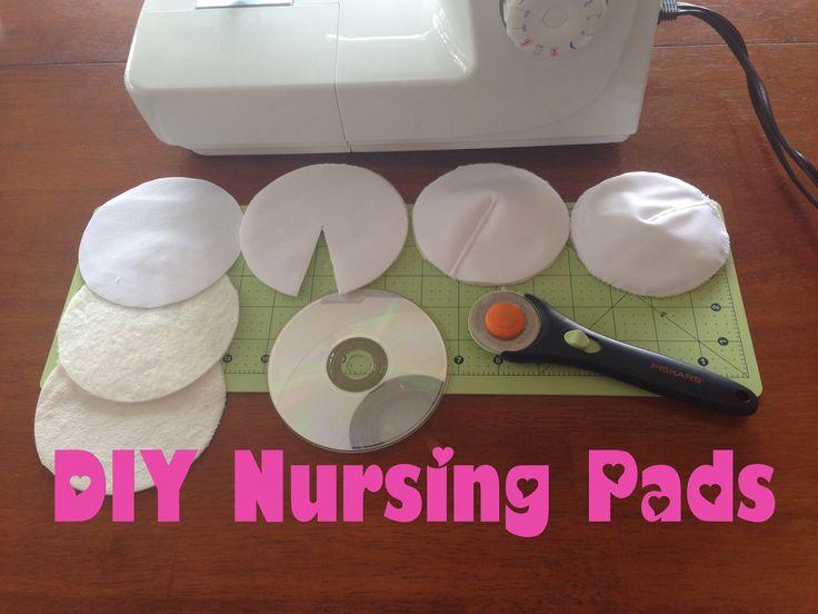 DIY Nursing Pads; Washable, Waterproof Breast Pads