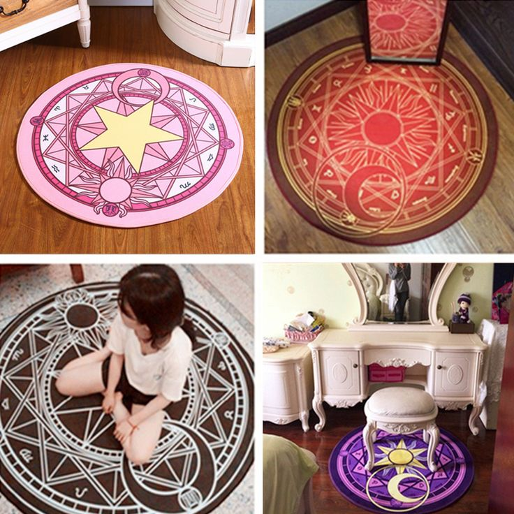 Fashion Baby Cartoon Play Mat Card Captor Sakura Kinomoto Magic Circle Puzzle Mats Children Round Carpet Diameter 60 100cm -in Play Mats from Toys & Hobbies on Aliexpress.com | Alibaba Group