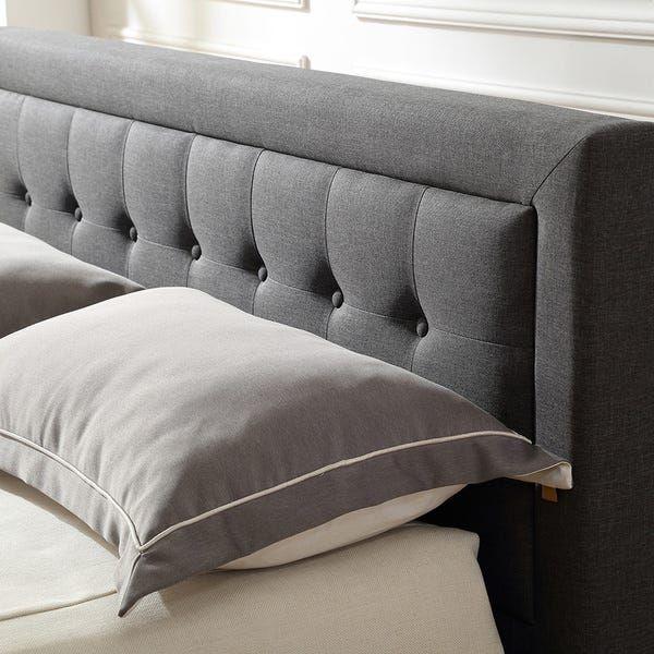 Classic Brands Mornington Upholstered Platform Bed Metal Frame