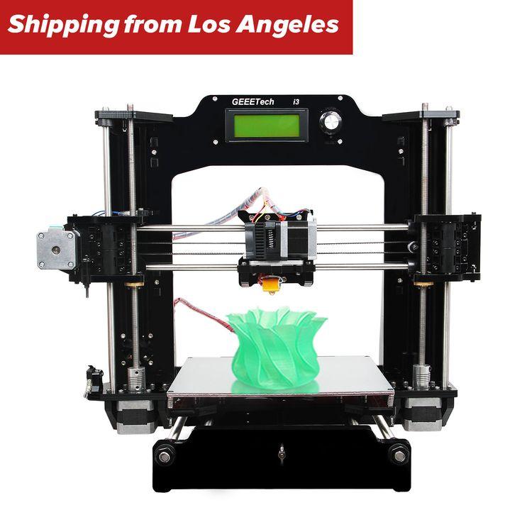Support 6 filaments Full Acrylic Prusa I3 DIY Pro X 3D Printer shipped from USA - Print PLA, ABS, Wood-Polymer, Nylon, flexible PLA, PVA #printer #shipped #from #prusa #acrylic #filaments #full #support
