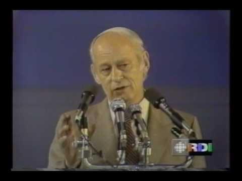 ▶ Référendum Québec 1980 - Discours de René Lévesque - YouTube