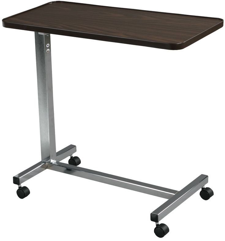 Drive 13003 Non Tilt Top Overbed Table, Chrome