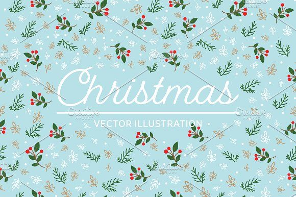 Winter Christmas seamless pattern  by AnzhelikaGerman on @creativemarket