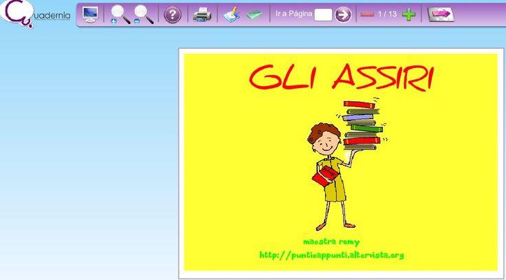 Un esempio di ebook realizzato con Cuadernia: Gli Assiri