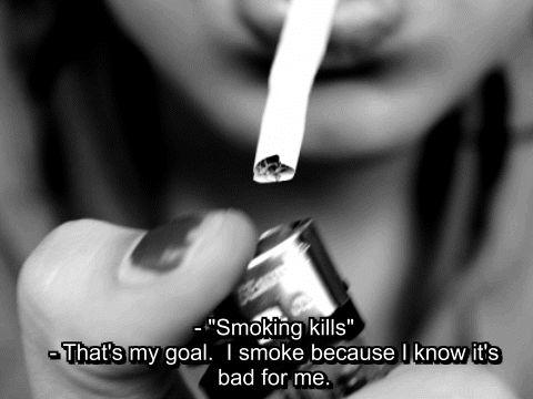 sad smoking quotes tumblr - Google Search
