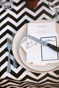 Black And White Chevron Tablecloth