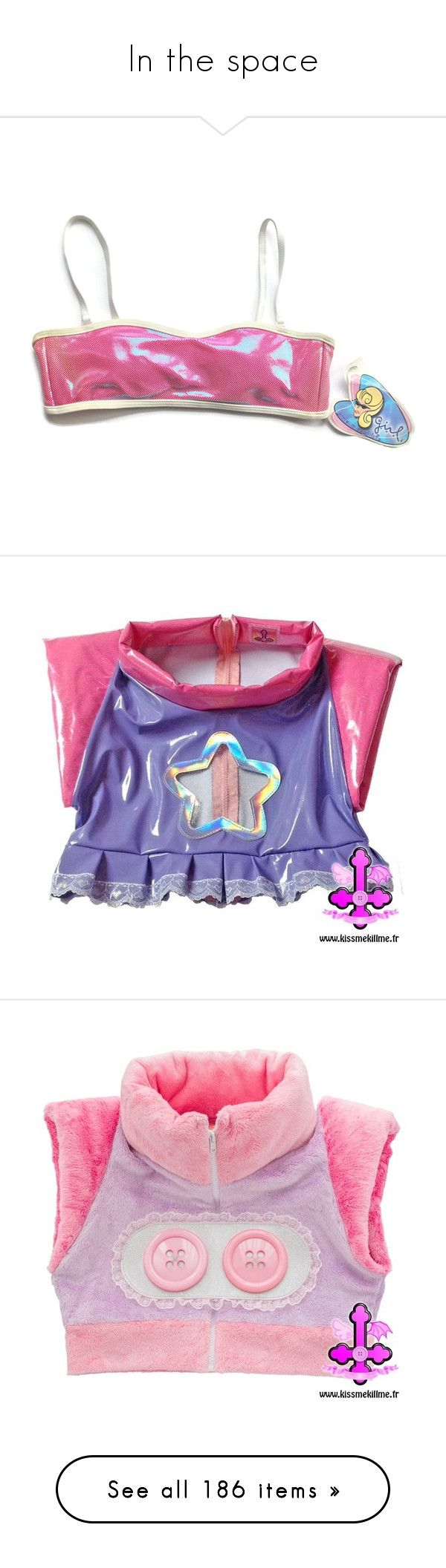 """In the space"" by hachi13 ❤ liked on Polyvore featuring swimwear, bikinis, bikini tops, strappy bikini top, push up tankini top, strappy bikinis, push up bikini tops, tops, vinyl top and zip top"