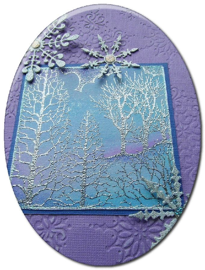 Winter Tree Project by Miranda - Chocolate Baroque