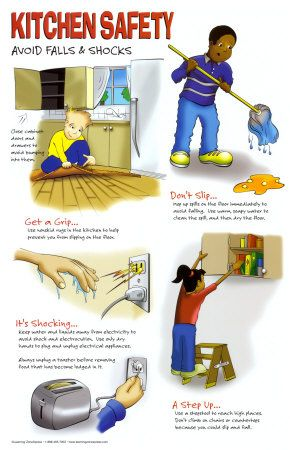 Kitchen Safety: Avoid Falls and Shocks