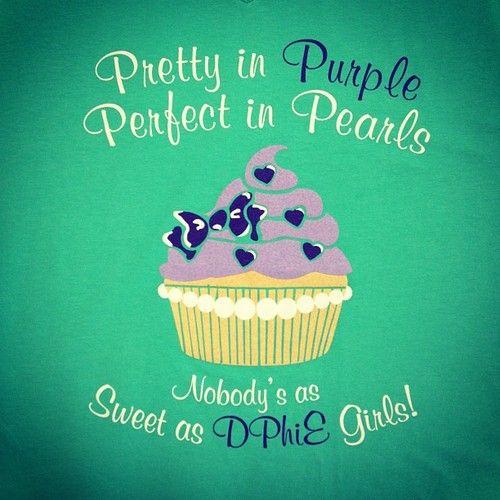 Delta Phi Epsilon - Pearls - Cupcake