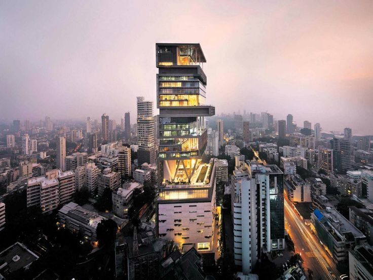 (The World's 12 Most Expensive Billionaire Homes) -Antilia, Mumbai - Courtesy of Perkins and Will – Photography : Fram Petit