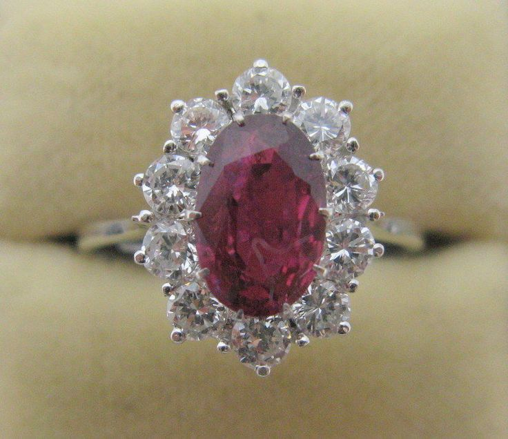 2.50 Ct Vintage Style Pink Sapphire Diamond Wedding Ring 18K Solid White Gold…